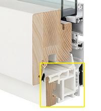 Infissi in alluminio-ABS-legno