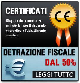 Detrazione Fiscale del 50% per il risparmio energetico e l'abbattimento acustico